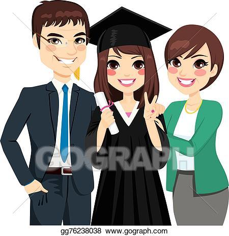 Proud clipart proud graduate. Clip art vector parents