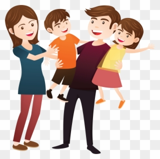 Brothers and sisters . Families clipart happy family