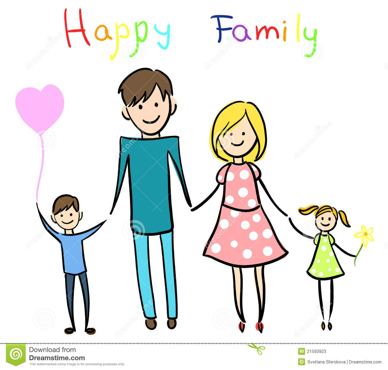 Elegant clip art . Families clipart happy family