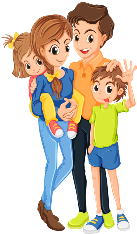 Yieb borb png scrapbook. Families clipart happy family