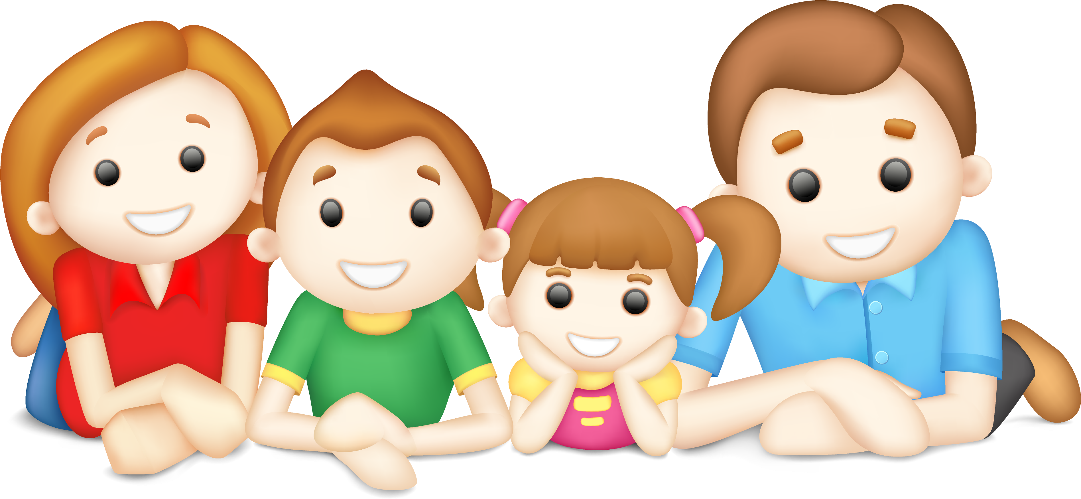 Families clipart happy family. Brothers and sisters