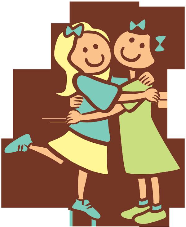 Family clipart hug. Girls minions cartoon comics