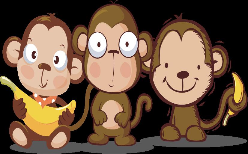 monkeys clipart student