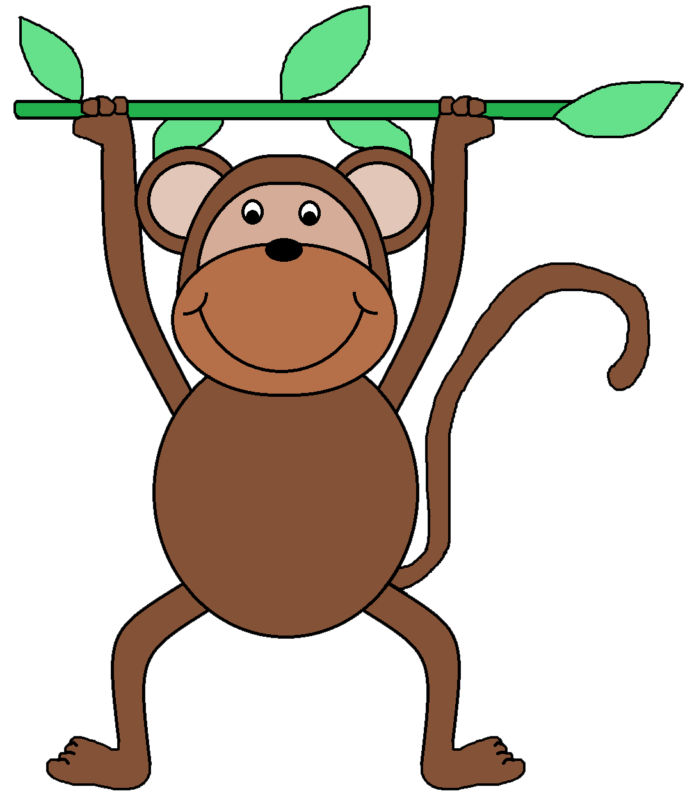 free black and. Families clipart monkey