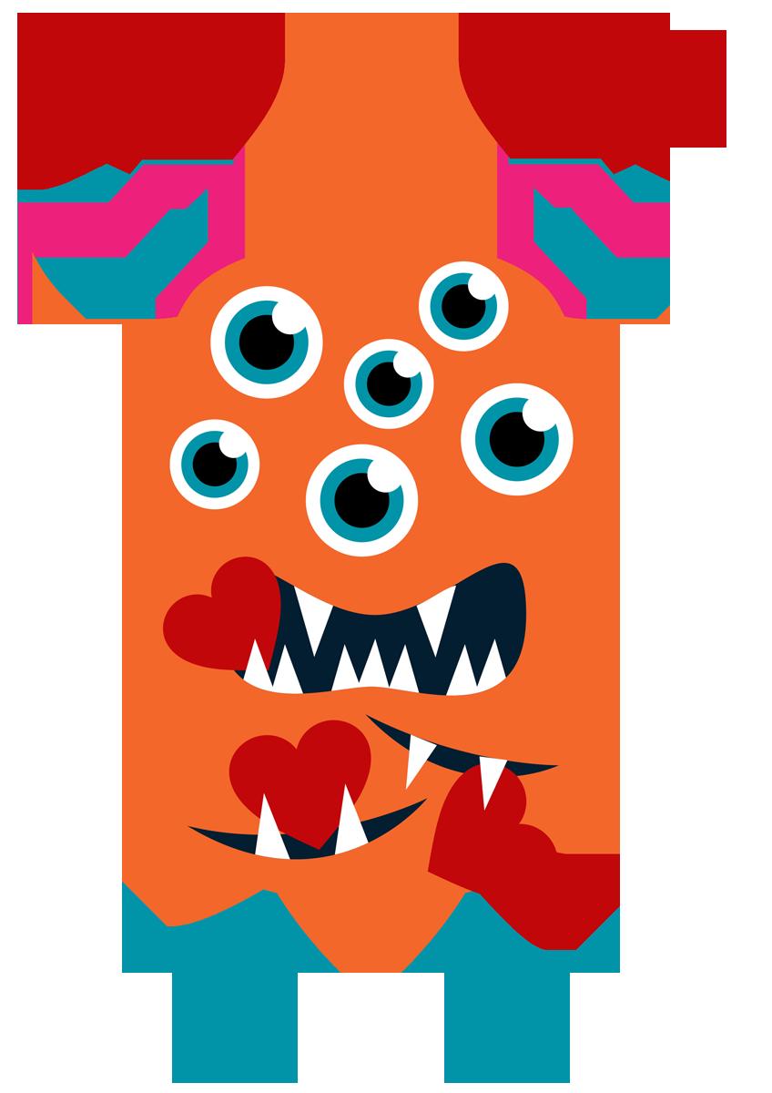 Valentine cumplea os pinterest. Family clipart monster