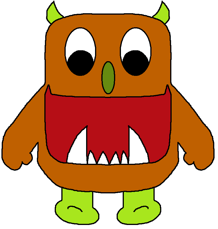 Images of cute cliparts. Families clipart monster