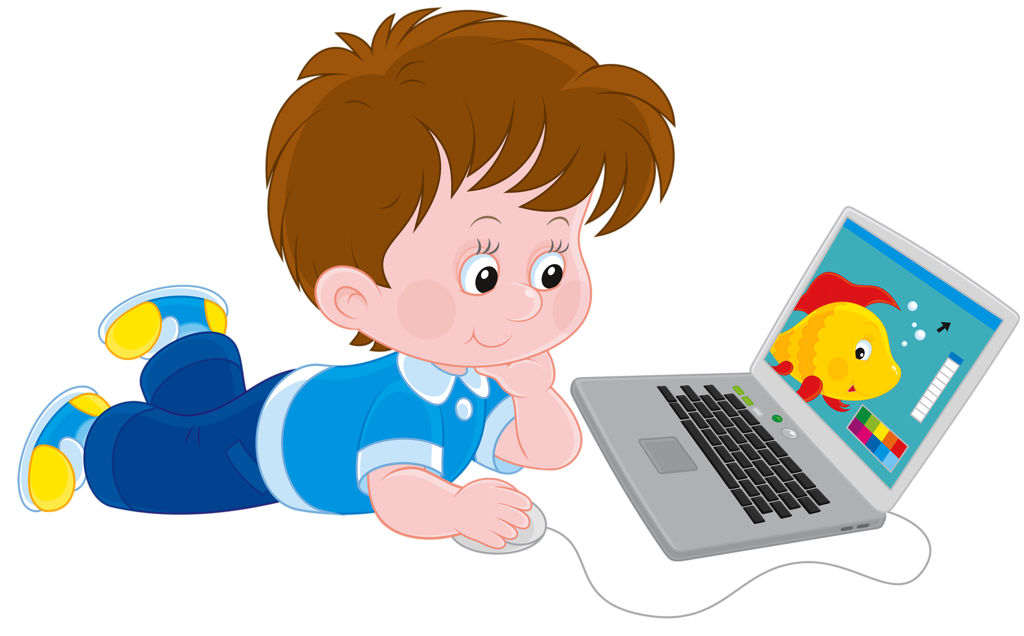 Kid clipart technology.  png educational game