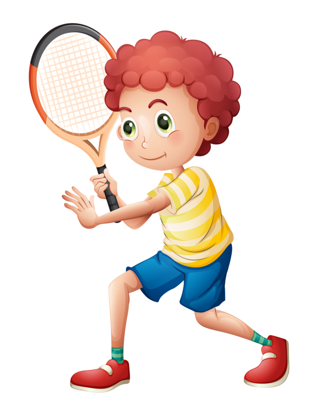 kids clipart tennis