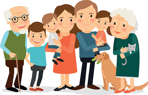 clipart happy cartoon clip multigenerational portrait transparent illustrations royalty vector station freeimages istock webstockreview illustration similar