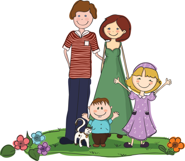 Kindergarten clipart family. Personnages illustration individu personne
