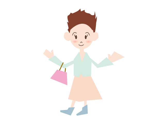 Going shopping lady free. Young clipart lovely family