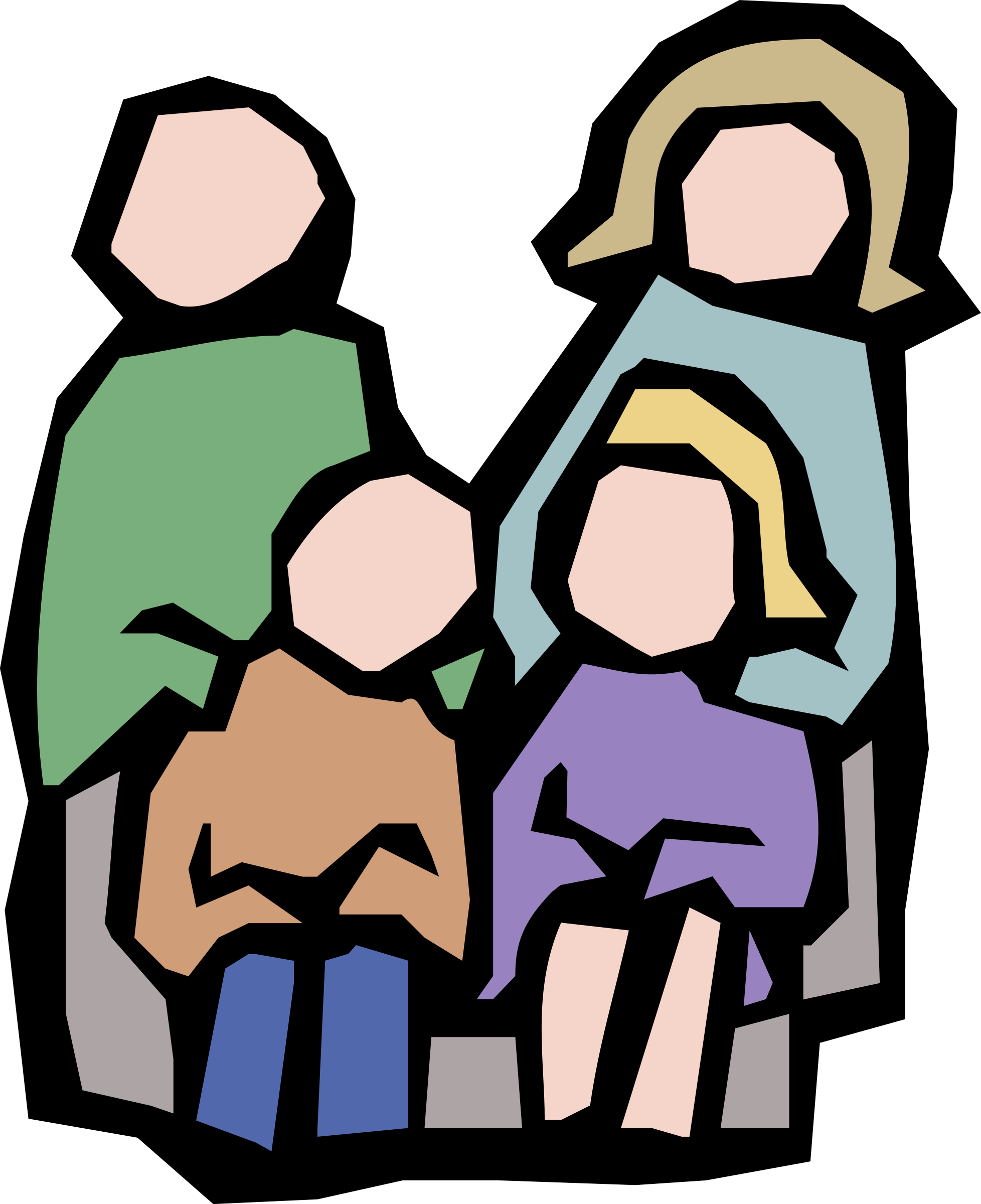 Faceless colour icons png. Family clipart technology