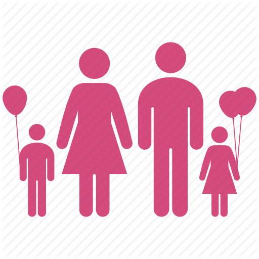 Home color by milinda. Family icon png