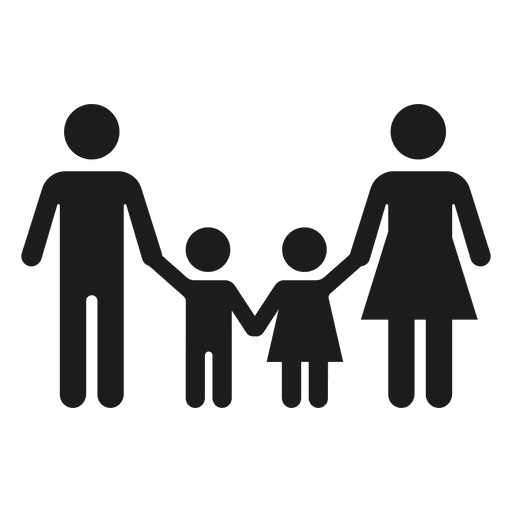 With two children transparent. Family icon png