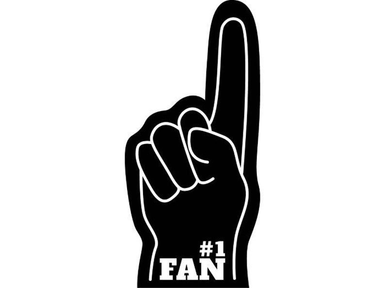 Fan clipart 1 fan. Foam sports finger football
