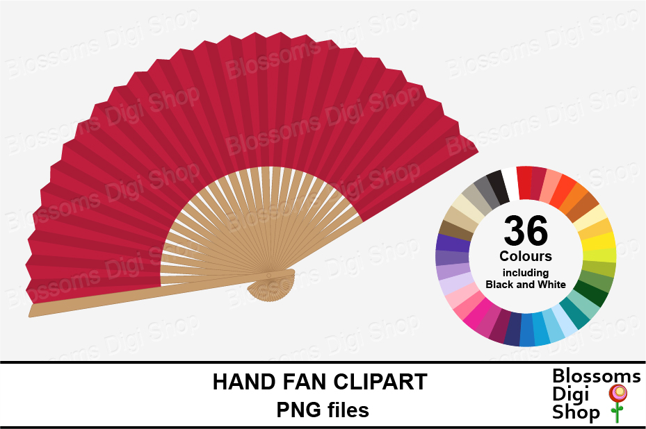 Fan clipart 1 fan. Hand