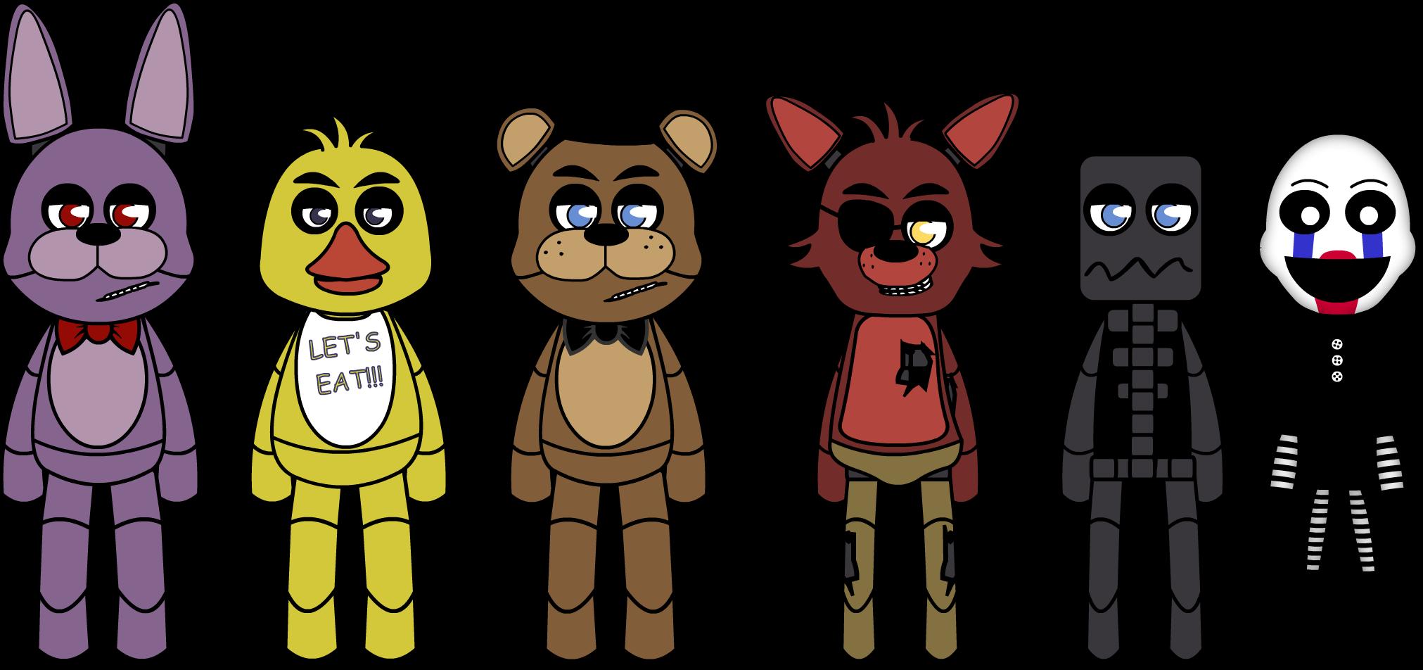Cartoon fnaf puppet rigs. Fan clipart animated