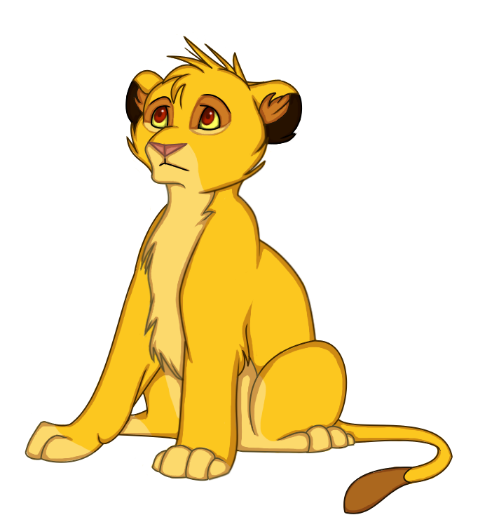 Fan clipart animated. Little simba shungi s