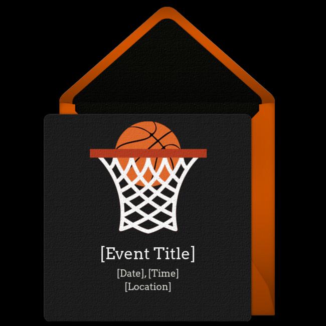 Fan clipart basketball fan. Free net invitations pinterest