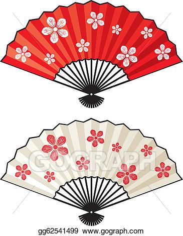 Vector stock illustration gg. Japan clipart fan oriental