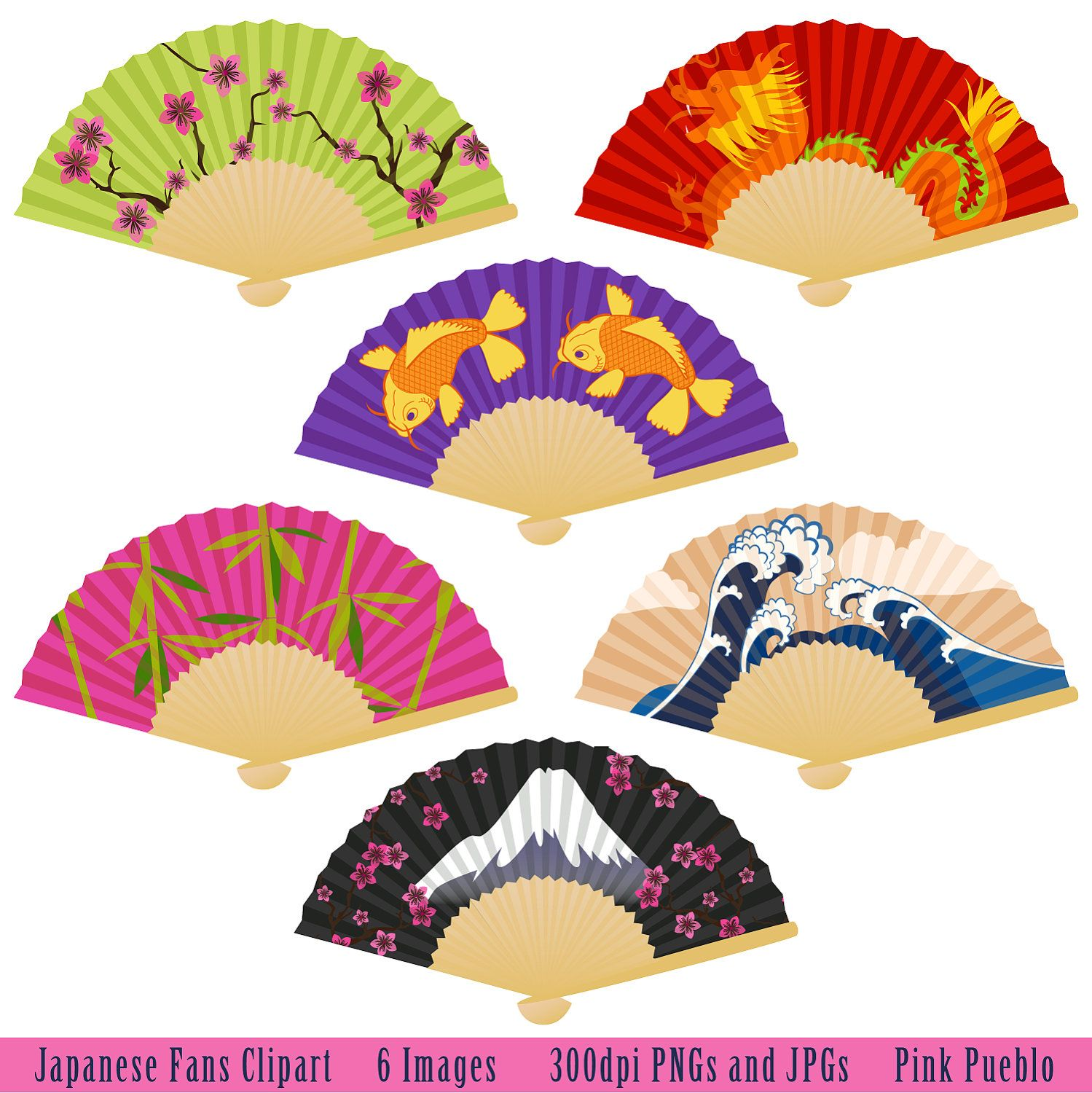 Japanese fans clip art. Fan clipart fan japan