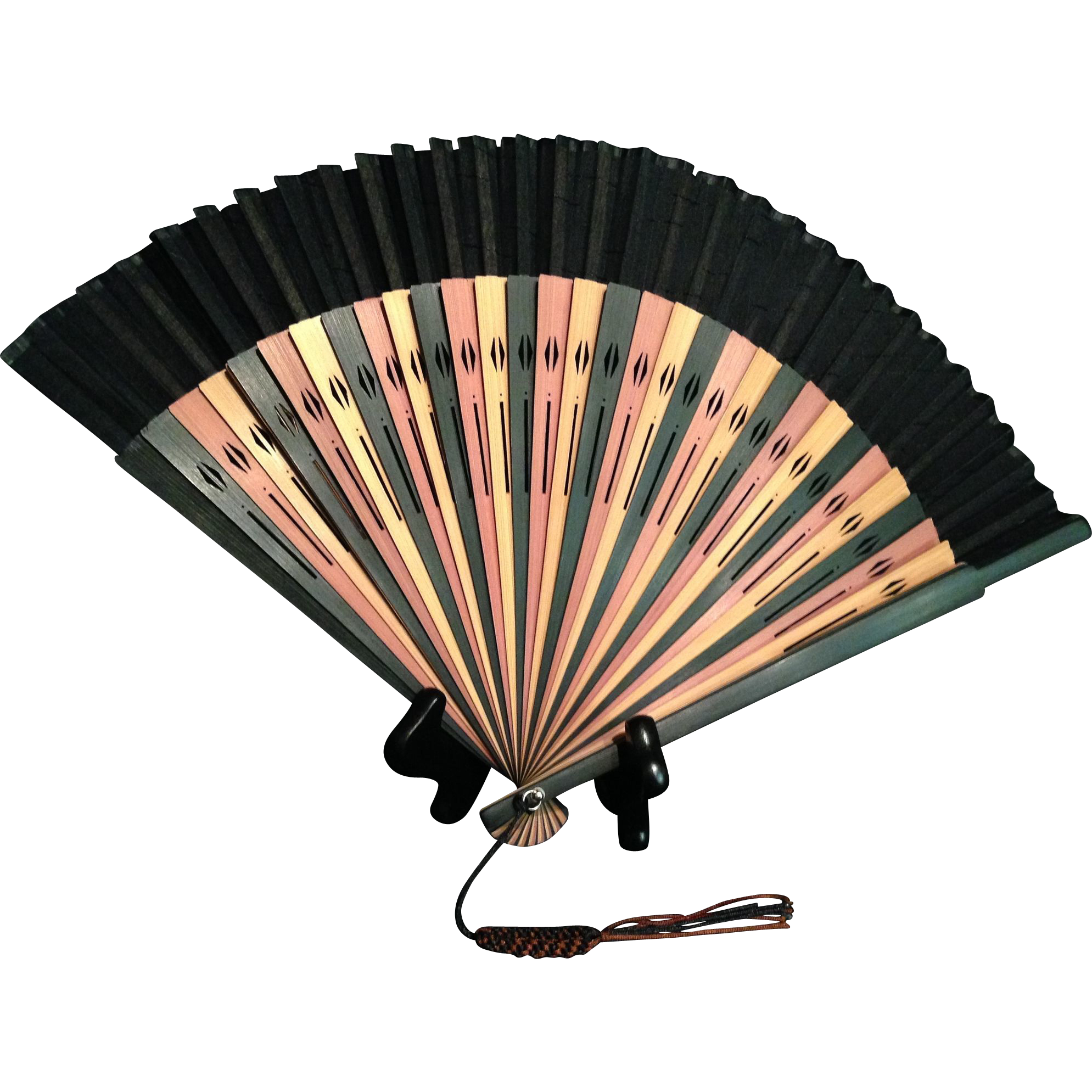 Japanese vintage kyoto bamboo. Fan clipart fan japan