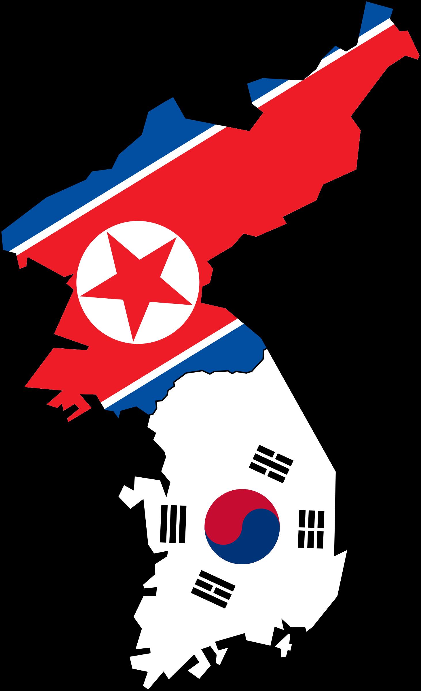 North and south korea. Japanese clipart korean