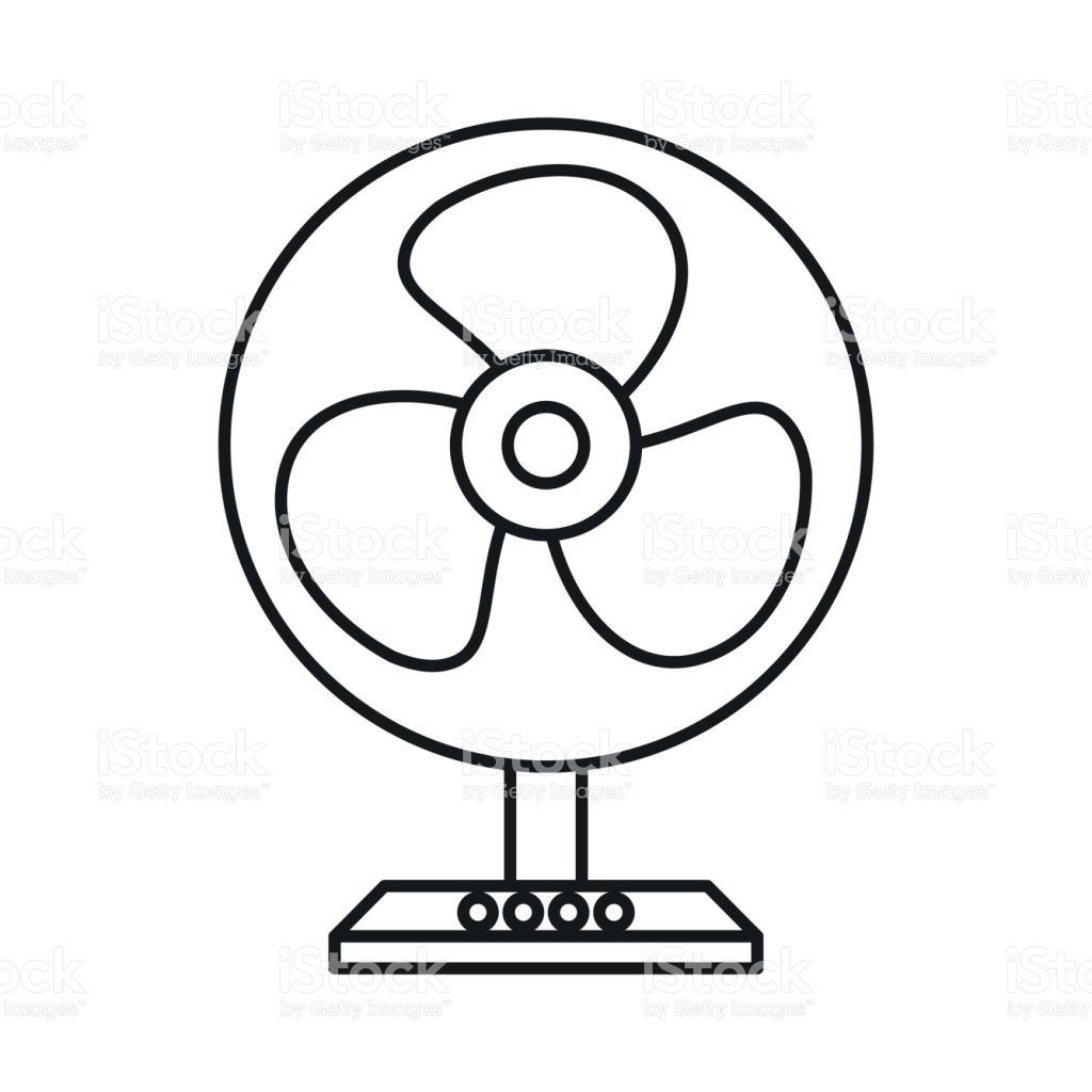 Electric black and white. Fan clipart fanblack