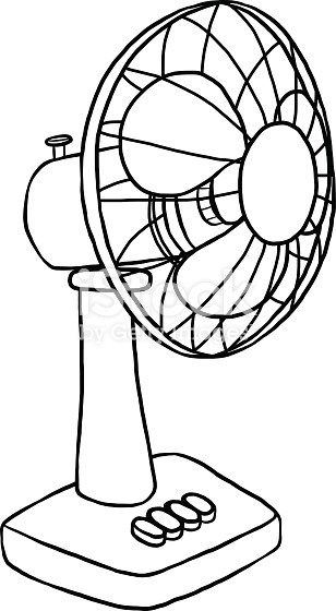 Fan clipart fanblack. Electric black and white