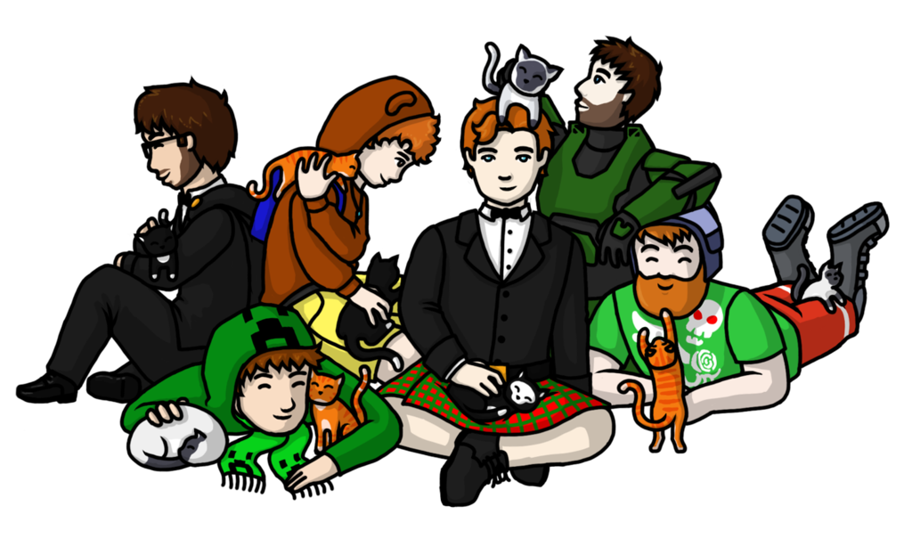 Achievement hunter cats by. Wow clipart animated