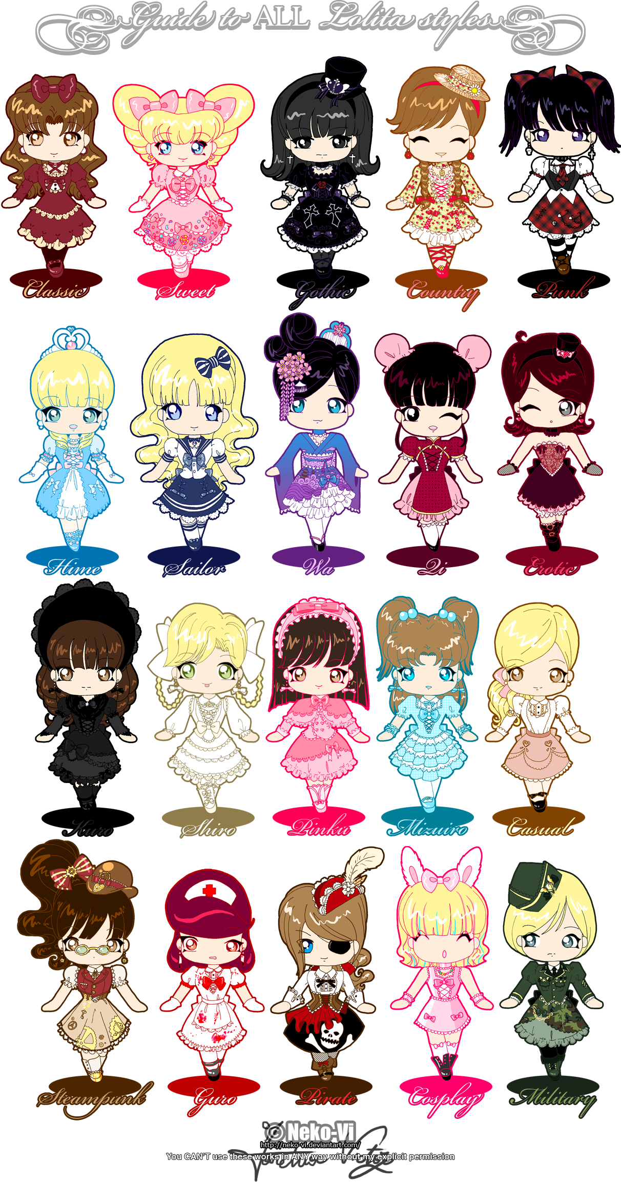 Maid clipart yaya. Guide to all lolita