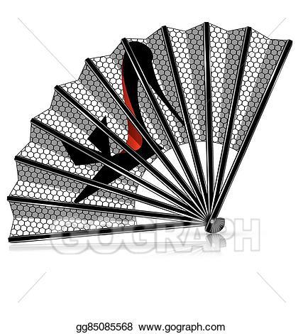 Eps illustration shoe vector. Lace clipart fan