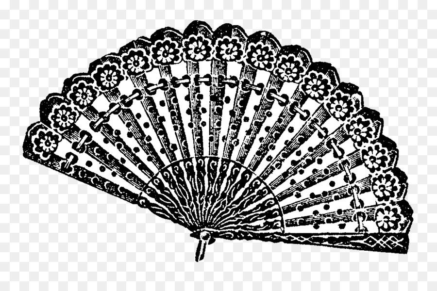 Lace clipart fan. Hand tree paper transparent