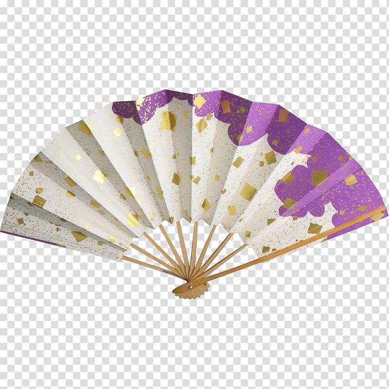 Hand box silk gold. Fan clipart paper fan