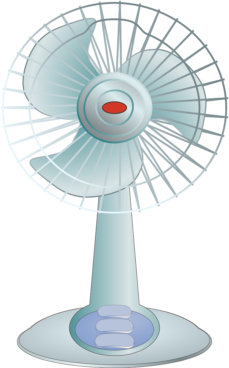 Fan clipart pedestal fan.  beauty reviewing the