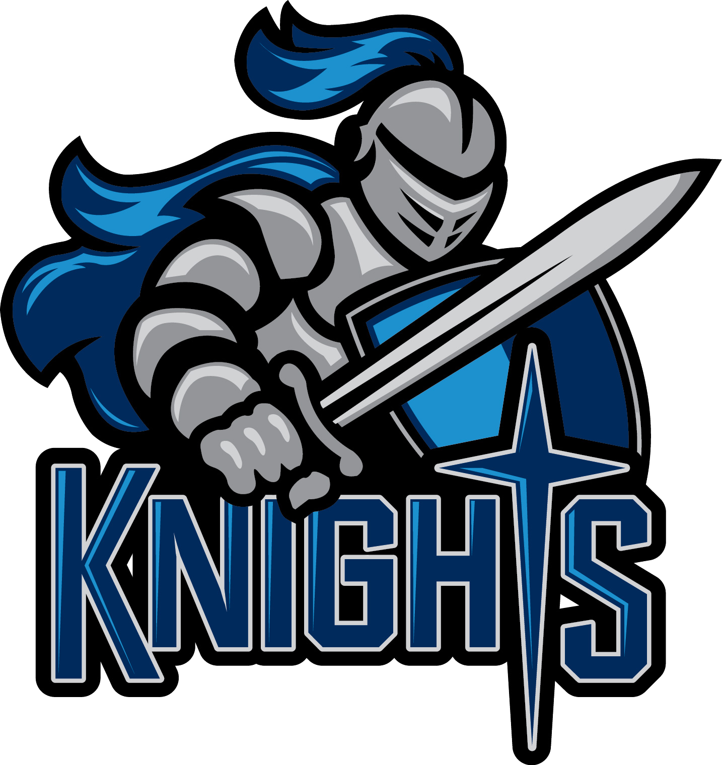 Kinghts logo sports siouxlandmatters. Warrior clipart wordmark