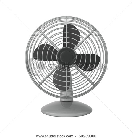 Fan clipart white background. Silver isolated on