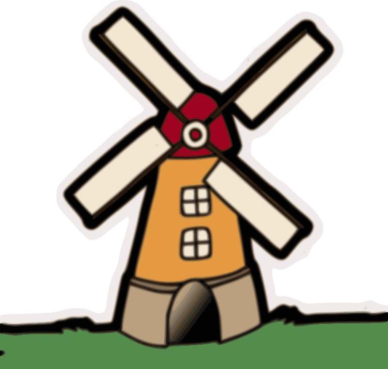 Flour clipart animated. Windmill cilpart fresh design