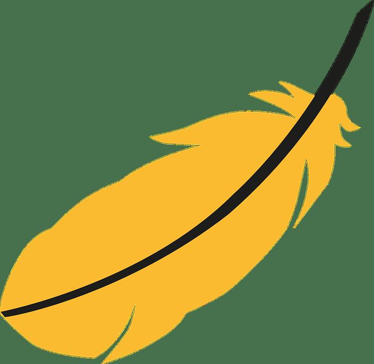 Yellow feather kris kristofferson. Feathers clipart logo