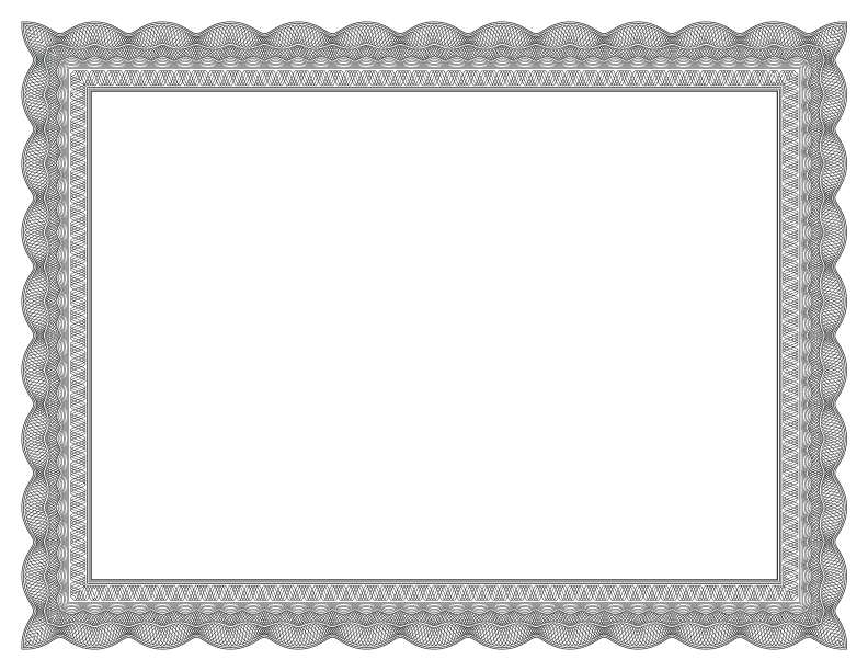 Fancy black border png. Formal certificate borders