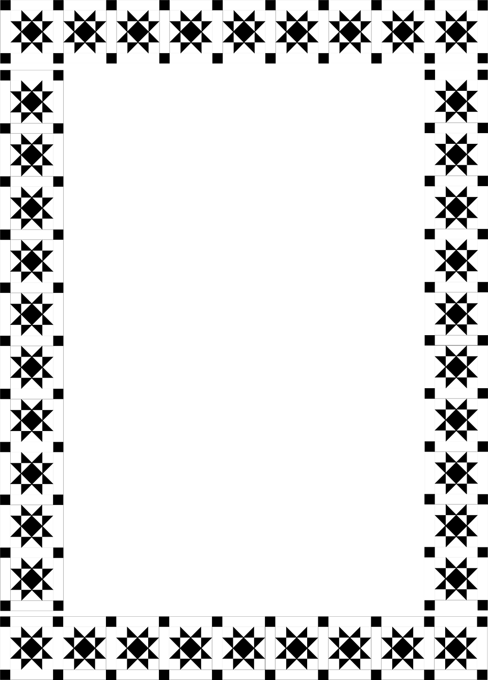 Fancy black border png.  for free download