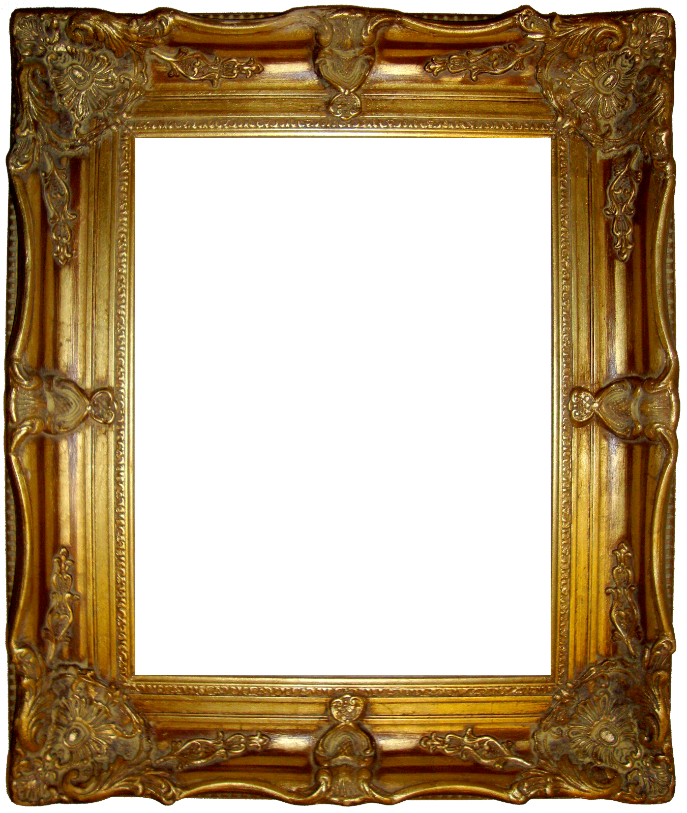 Fancy frame png. Gold tall big open