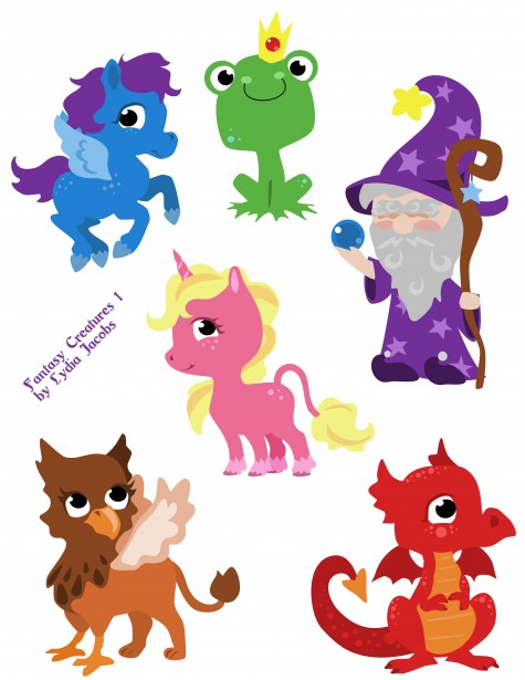 Creatures free stock photo. Fantasy clipart