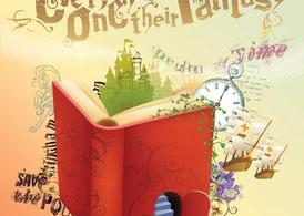 Fantasy clipart book. Free books and vector