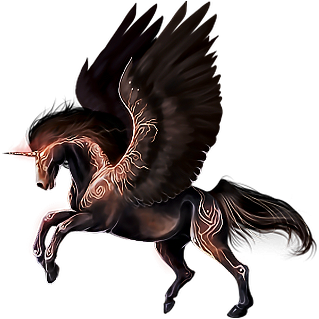 Fantasy clipart imagination. Pegasus unicorn mystical fae