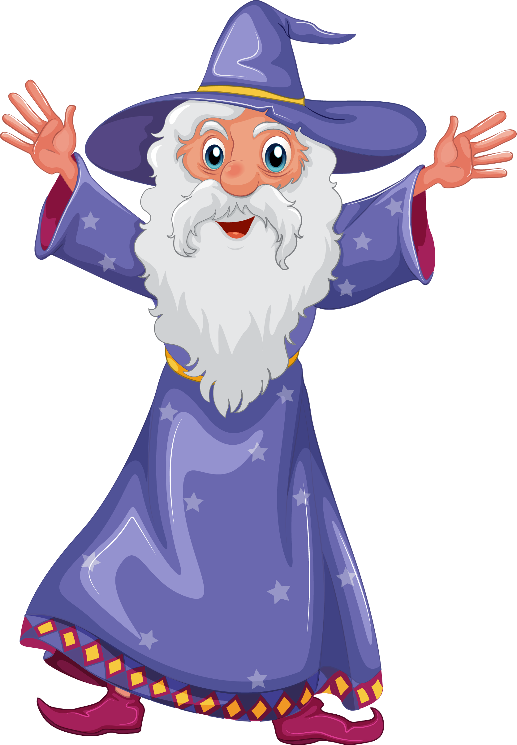 Magician clipart holiday hat. Wizard png transparent free