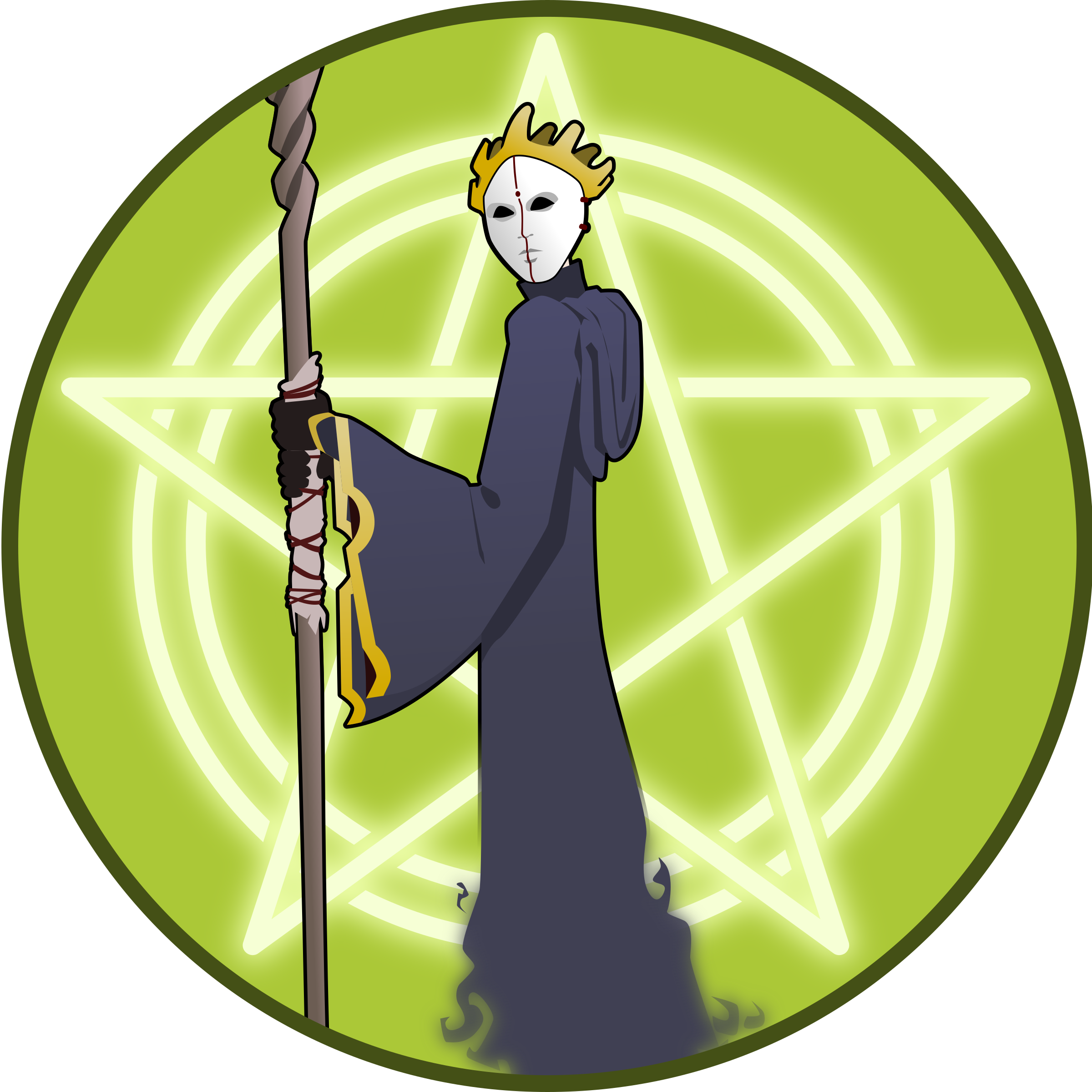 Magician clipart wizard. Emblem big image png
