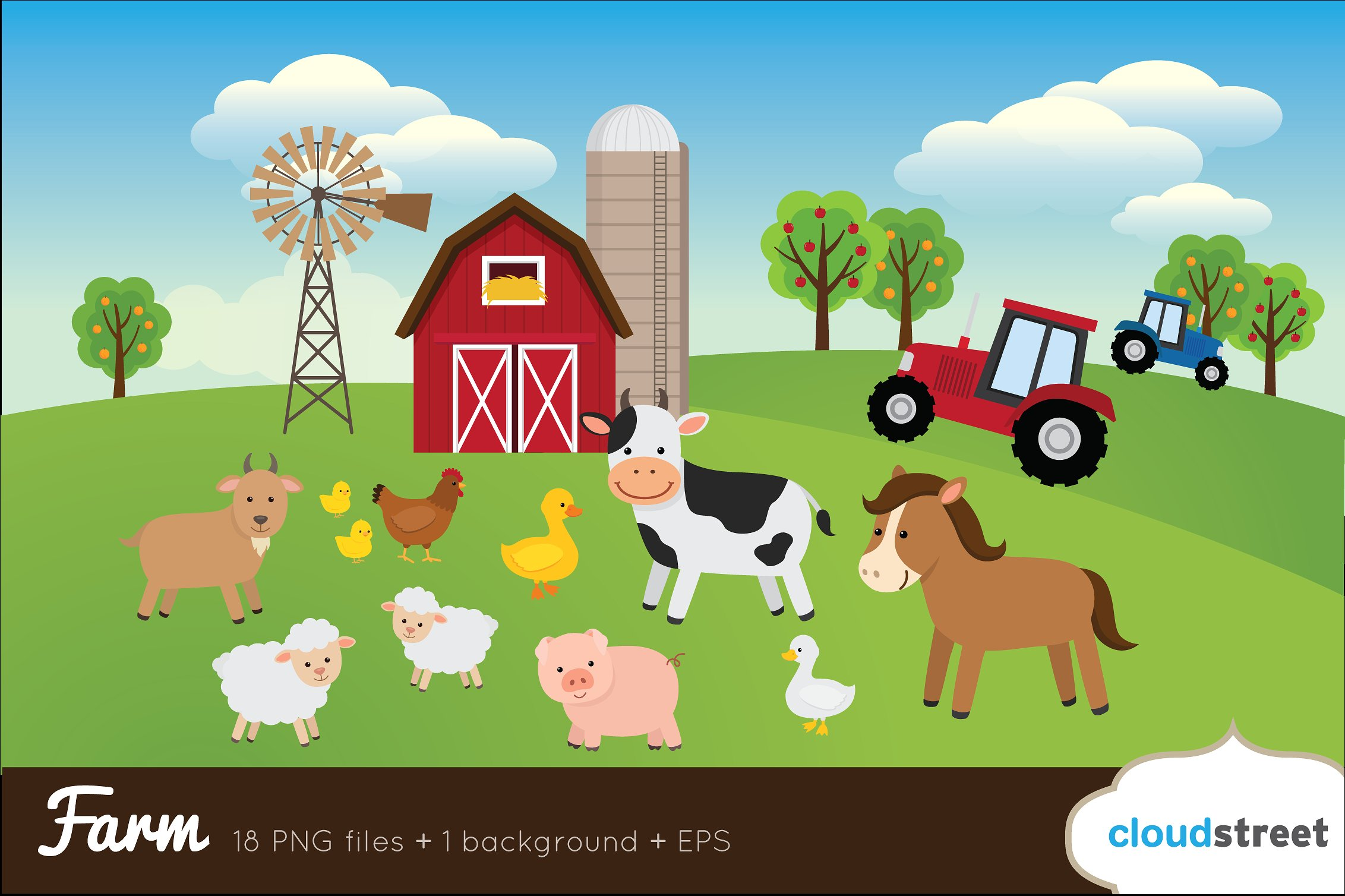 Clip art illustrations creative. Farm clipart