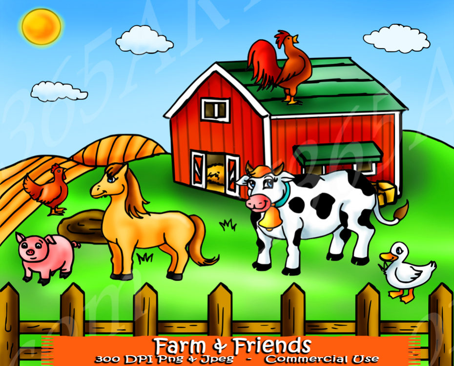 Farm clipart. Animal friends set i