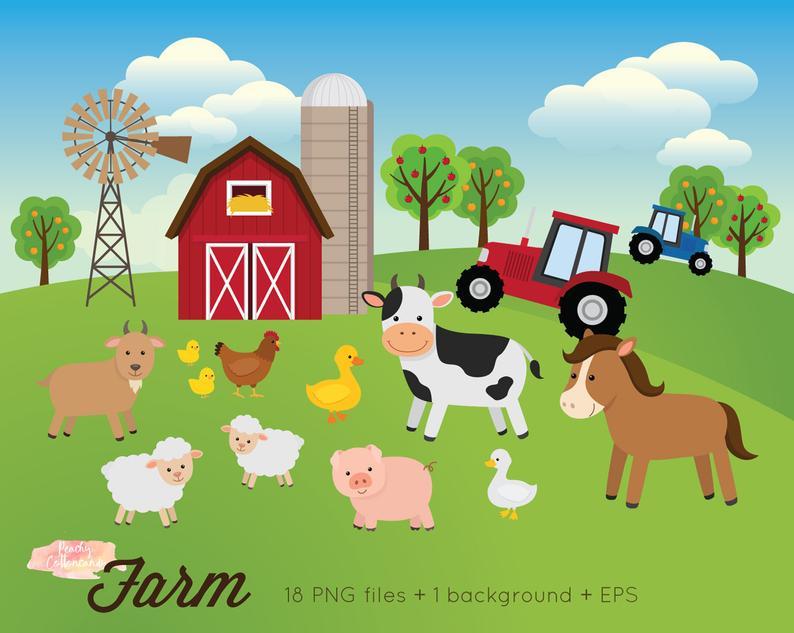 Buy get free animals. Farm clipart